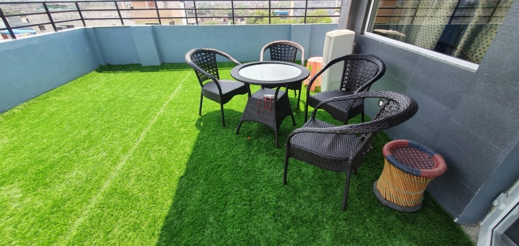 Artificial Grass installed in terrace